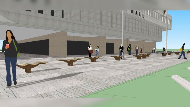 Fort Worth City Hall Makeover Could Include 'Molly' Benches