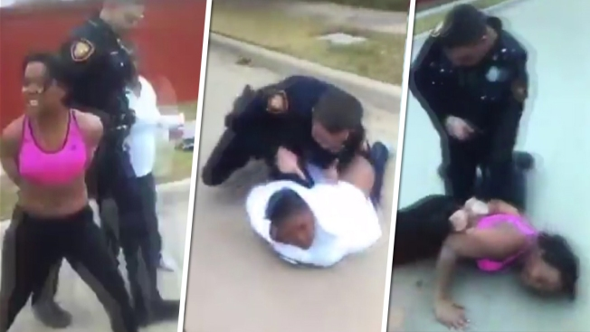 Video shows Texas officer forcibly arresting woman, daughter