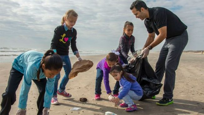 Volunteers Clear 40 Tons of Trash from Texas Beaches