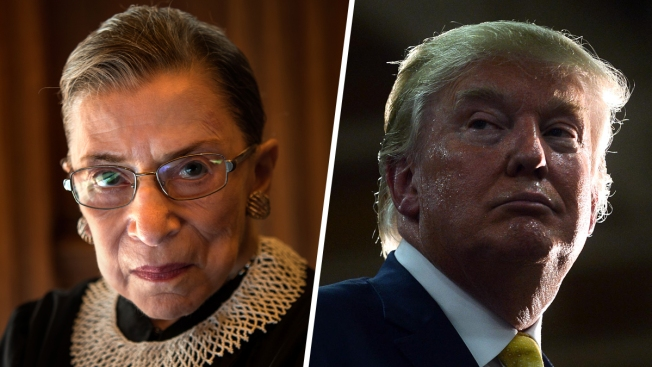 Justice Ruth Bader Ginsburg, Donald Trump Trade Barbs