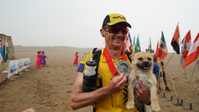 Ultra-Marathon Runner Reunited With Missing Stray Dog