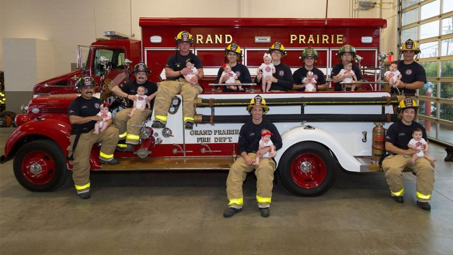 Grand Prairie Fire Department Family Grows by 10 Babies in 12 Months