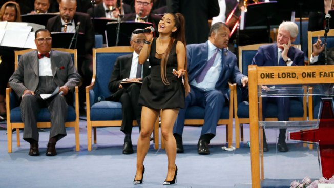 Disrespectful? Ariana Grande Belts Aretha Franklin Standard in Tiny Dress at Funeral