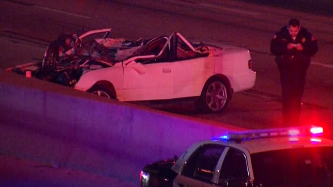 Police: I-35W Rollover Caused by Pedestrian