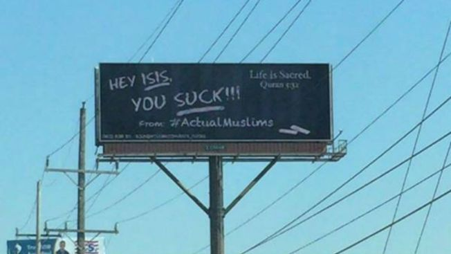 '#ActualMuslims' Post Anti-ISIS Message on Ill. Billboard