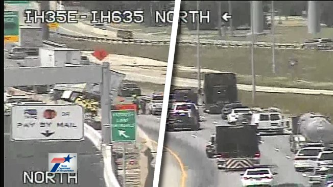 2 Northbound Lanes of Interstate 35E Closed after Crash