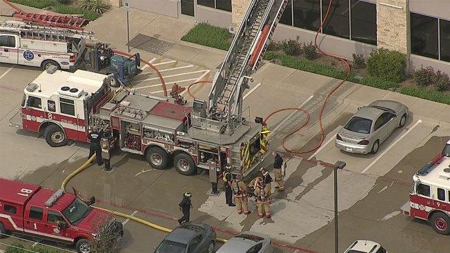Warehouse Catches Fire in Irving