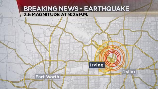 2.6 Magnitude Earthquake Reported in Dallas County