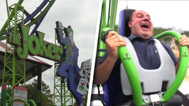 New 'Joker' 4D Free-Fly Coaster Debuts at Six Flags Over Texas