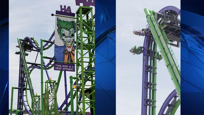 Riders Rescued After Being Stuck on The Joker Ride at Six Flags Over