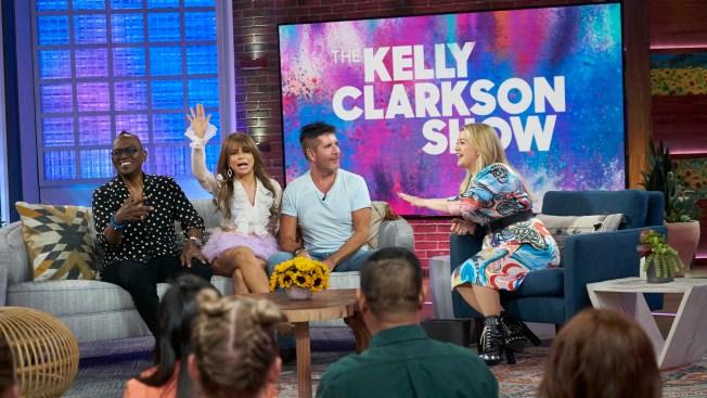 The Gang's All Here! Clarkson Hosts 'American Idol' Reunion With Simon Cowell, Paula Abdul and Randy Jackson