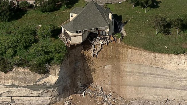 house built along cliff falling into lake whitney nbc 5 dallas fort worth. Black Bedroom Furniture Sets. Home Design Ideas