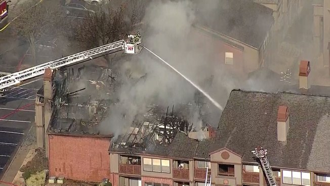 Crews Battle Large Fire in Lewisville Tuesday