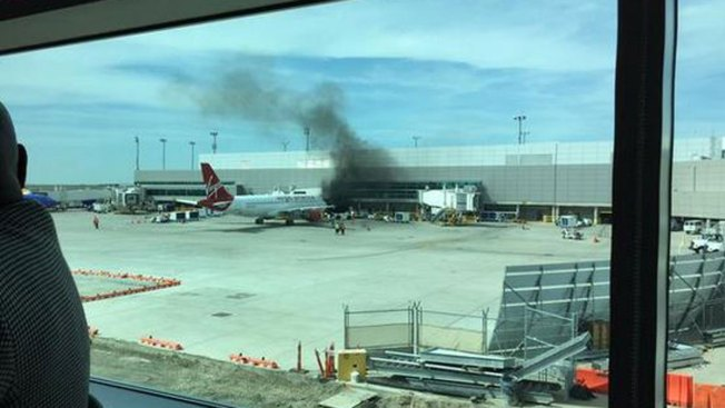 Fire At Dallas Love Field Near Virgin America Plane Nbc