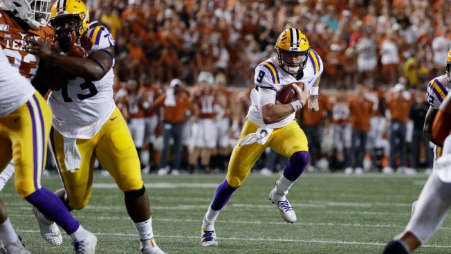 Burrow's 4 Touchdown Passes Lead LSU Over Texas
