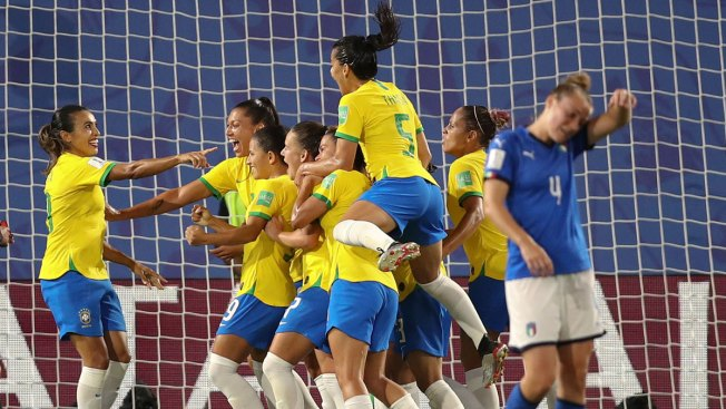 Marta Sets Record With 17th World Cup Goal in Brazil Victory