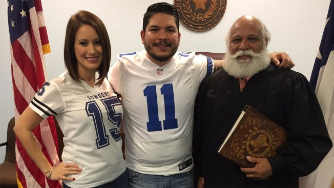 South Texas Prosecutor Sworn-in Wearing Cole Beasley Cowboys Jersey