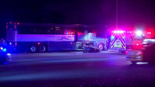 Greyhound Bus Crash Sends 8 to Hospitals in Fort Worth