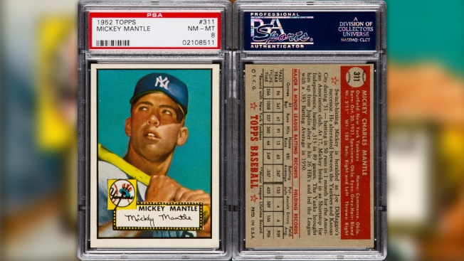 Rare 1952 Topps Mickey Mantle Rookie Card Sells At Auction
