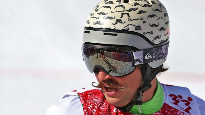 Slovenia's Filip Flisar's Epic Mustache Steals the Show in Sochi