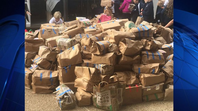 The Episcopal School of Dallas Third Graders Collect 3,000 Items To Feed Hungry