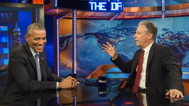 On 'Daily Show,' Obama Takes Victory Lap, Teases Dick Cheney Fans