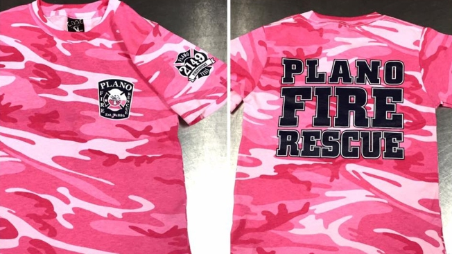 Plano Firefighters Wear Pink In Support Of Breast Cancer Awareness