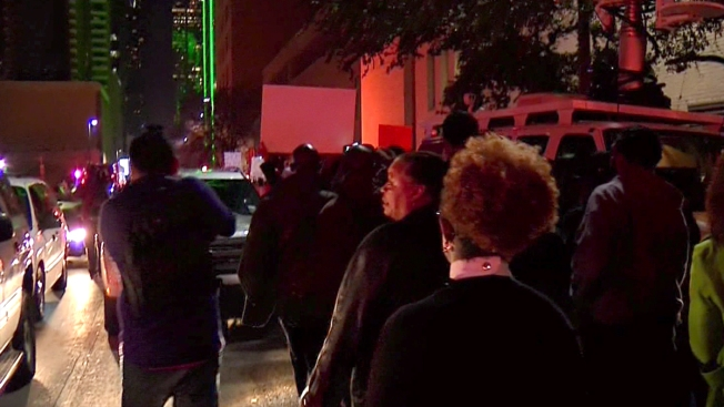 Protesters March Through Downtown Dallas