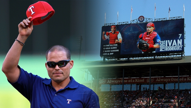 Former Rangers C 'Pudge' Rodriguez Appears on Hall of Fame Ballot