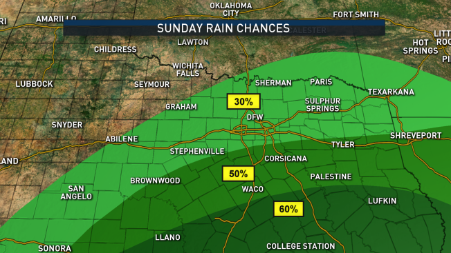 Some Storms Possible Sunday - NBC 5 Dallas-Fort Worth