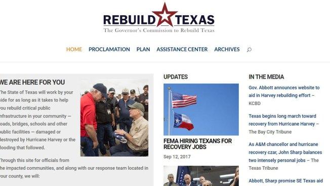 Gov. Greg Abbott Announces Rebuild Texas Website For Communities