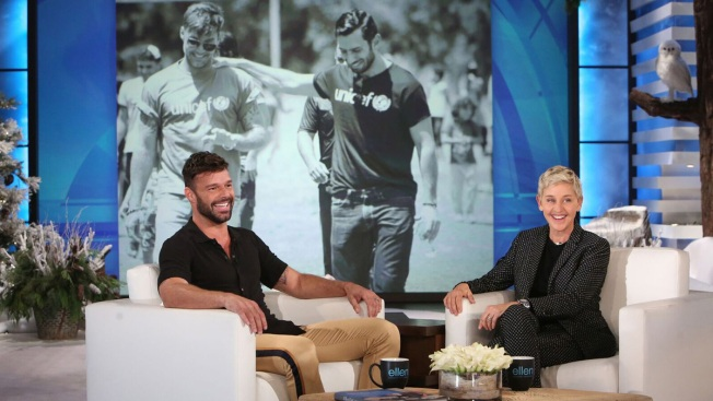 Ricky Martin Shares Engagement News on Ellen