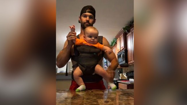 Dad Posts Silly Video Dancing With Baby