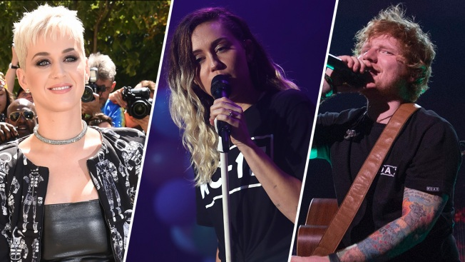 Ed Sheeran, Miley Cyrus, Katy Perry to Perform at MTV VMAs