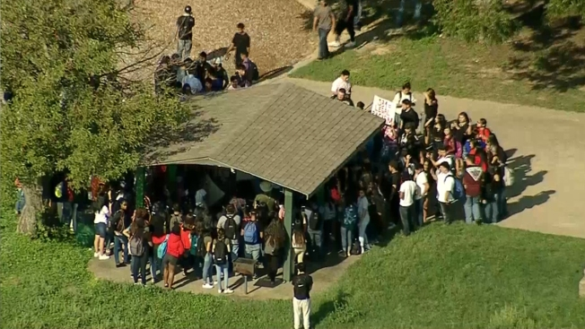 North Texas High Schoolers Walk Out in Protest of New Immigration Law