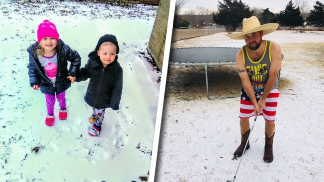 Your Photos: Ice, Light Snow in North Texas Jan. 16