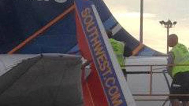 Southwest Jet Damaged at Boston's Logan Airport