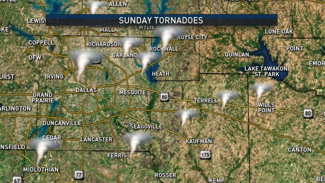 NBC 5 Forecast: Scattered, Hit-or-Miss Showers