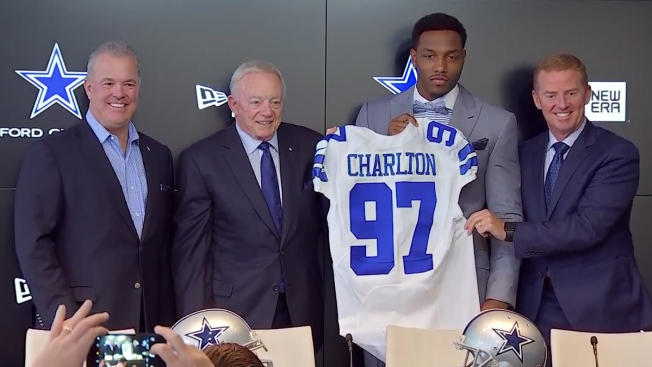 Dallas Cowboys Introduce First Round Draft Pick Michigan DE Taco Charlton