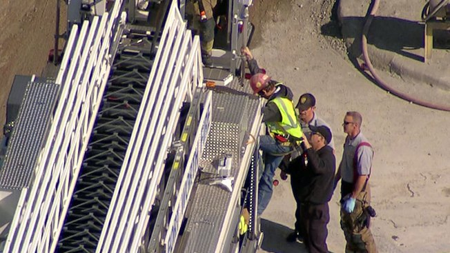 Fort Worth Fire Department Rescues Man Trapped on Concrete Pillar
