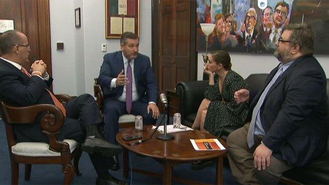Sen. Ted Cruz, Actress Alyssa Milano Discuss Gun Rights