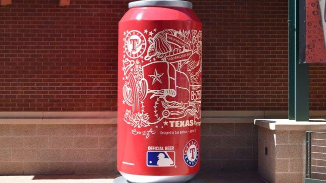 Budweiser Unveils Texas Rangers-Themed Beer Can