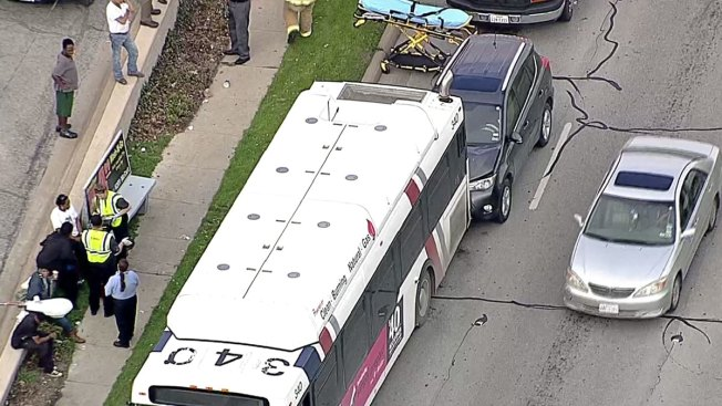 SUV Crashes Into Fort Worth City Bus