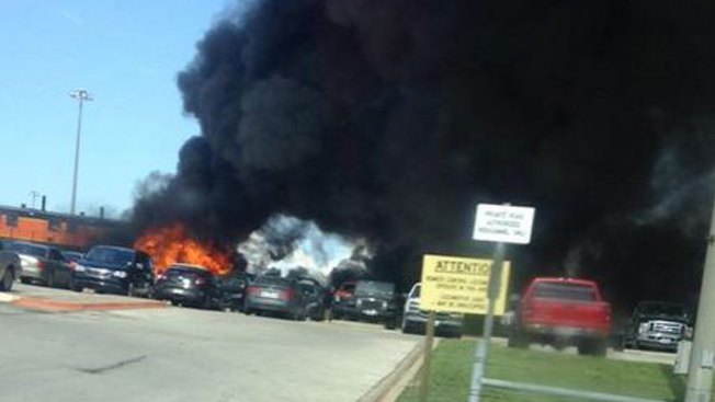 Train Catches Fire in Tarrant County