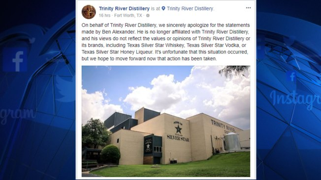 Trinity River Distillery Cuts Ties With Co-Founder After Vulgar Message