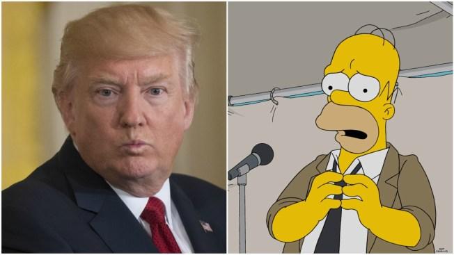 D'oh! 'Simpsons' Needle Trump Ahead of 100-Day Milestone