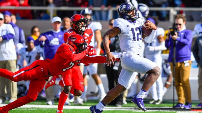 Freshman QB 1st Start in No. 11 TCU's 27-3 Win at Texas Tech
