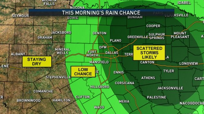 NBC 5 Forecast: One More Decent Chance for Rain