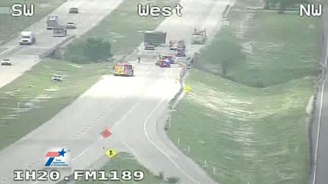Crash, Spill Closes Westbound Interstate 20 West of Weatherford