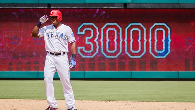 Beltre Doubles for 3,000th Hit, 31st Player in The Club
